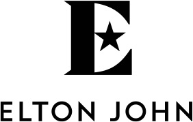 Elton John's logo with the letter E and a star
