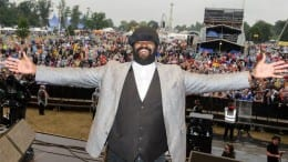 """Gregory Porter lifts crowd's """"liquid"""" spirits on a soggy Sunday at V Festival"""