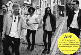 Win! The Temperance Movement Gig Tickets