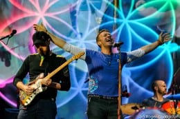Prince Harry takes to the stage with Coldplay
