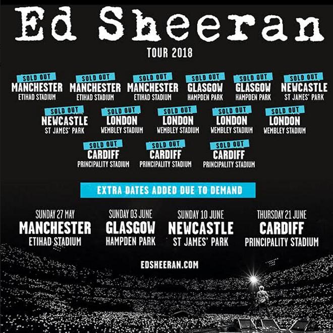 Ed Sheeran Uk Tour 2018