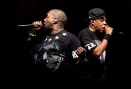 Rihanna & Kanye join Jay-Z at Hackney gig