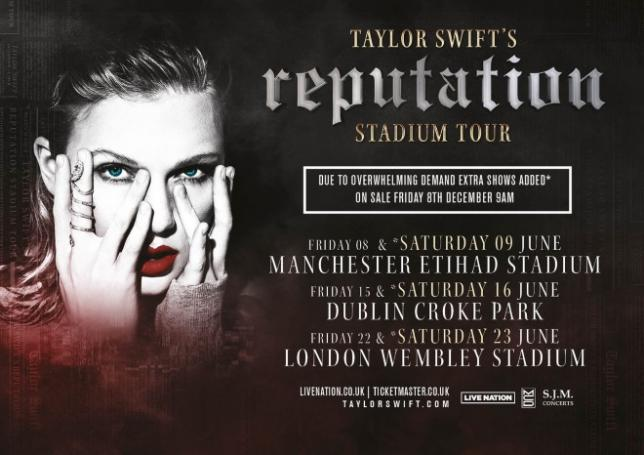 taylor swift extra shows